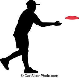 disco, jugador del golf