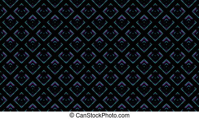 disco kaleidoscopes background with animated glowing neon colorful lines and geometric shapes for music videos, VJ, DJ, stage, LED screens, show, events. seamless loop. WAVE