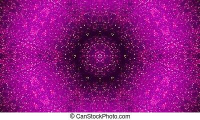 disco kaleidoscopes background with animated glowing neon...