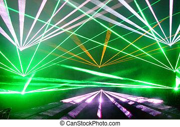 disco, laser, exposition