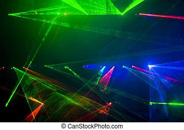 disco, laser, tonen