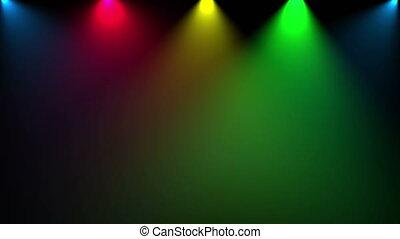 Disco light. Cg animation. loop
