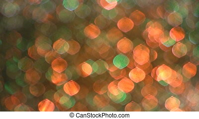 Disco Light effect. Soft focus. - Closeup of soft defocused...