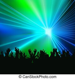 Disco Lights 05 - colored background illustration with laser...