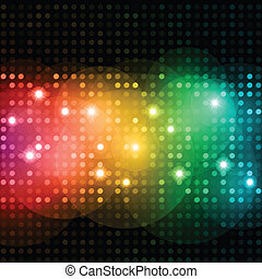 Disco lights - Abstract background of brightly coloured...