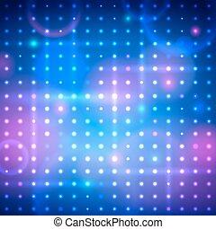 Disco lights.