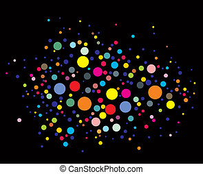 disco lights dots