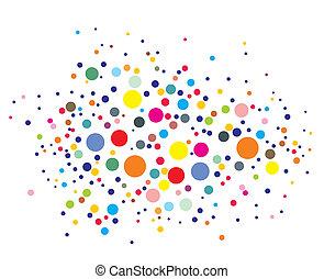 disco lights dots pattern on black background, illustration
