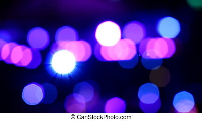 Disco lights out of focus. Abstract bokeh.