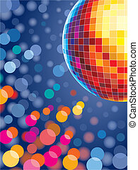 Disco lights - Party disco background with glowing lights