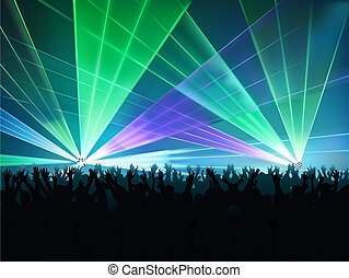Disco Lights 02 - colored background illustration with laser...