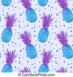 disco low poly pineapple pattern