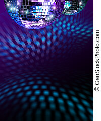 Disco mirro balls - Disco mirror balls light reflections on...