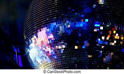 Disco mirror ball at the night club