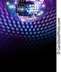 Disco mirror ball - Disco mirro ball reflecting light spots ...
