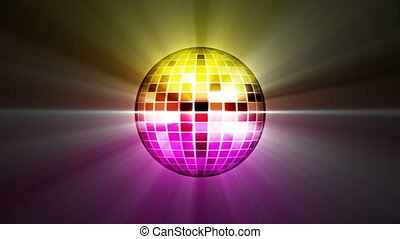 disco mirror ball rotating, loop