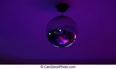Disco mirror in the nightclub