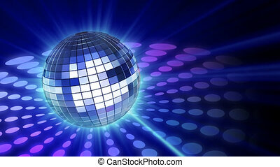 Disco mirrorball - mirrorball with shine