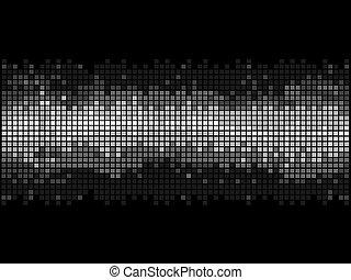 disco, mosaïque, arrière-plan noir