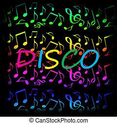 Disco music background