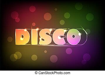 Disco neon sign