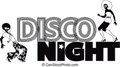 Disco night banner