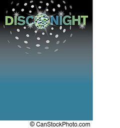 Disco night background with area for text.