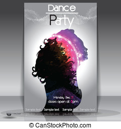 Disco Party Background. Vector Illu