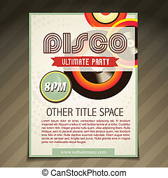 disco party brochure design