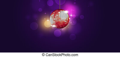 disco party neon banner