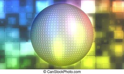 disco piłka, abstrakcyjny, pętla