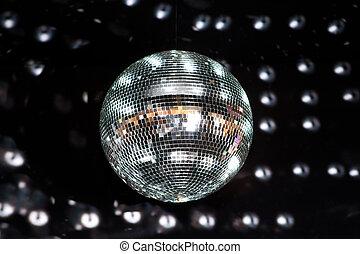 disco piłka, błyszczący, nightclub
