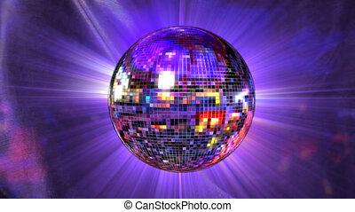 disco piłka, lustro
