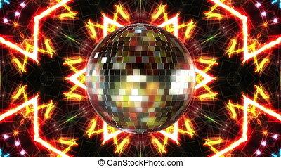 disco piłka, ruch obrotowy, pętla, animation., 3d, render