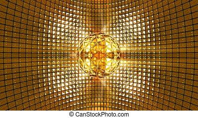 disco piłka, tło złotego