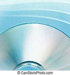 disco, primer plano