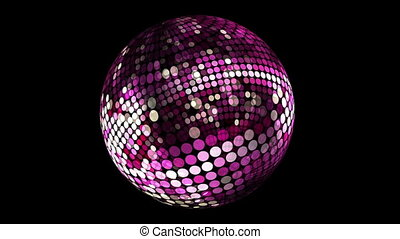 Disco purple ball