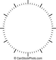disco, relógio, pretas, sinais