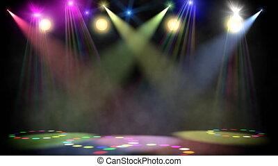 disco, scène, lus