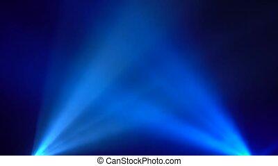Disco scene multicolored streams of light black background