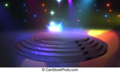 Disco Stage 11 - Disco Stage Dance Floor Colorful Vivid...