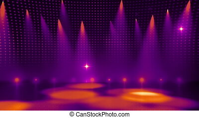 Disco Stage 6 - Disco Stage Dance Floor Colorful Vivid...