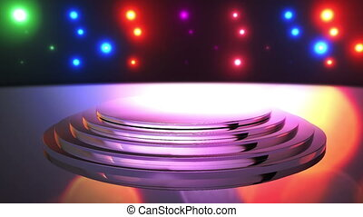 Disco Stage 9 - Disco Stage Dance Floor Colorful Vivid...