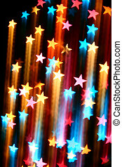 disco stars - abstract disco colored stars motion background
