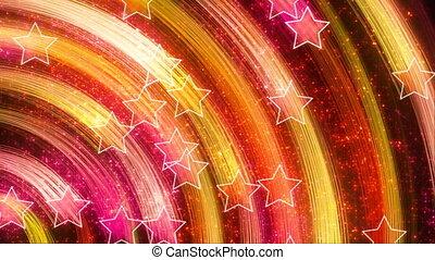 disco stars abstract loop backdrop