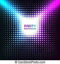 disco, vecteur, conception, fond, fête, brillant