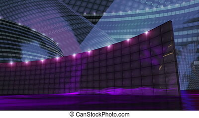 Disco virtual set stage purple - dj disco stage virtual set...