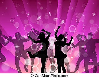 Disco Women Meaning Dancer Ladies And Celebration
