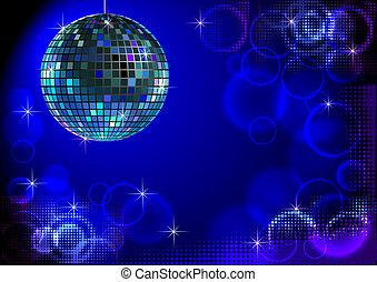 Blue disco backround