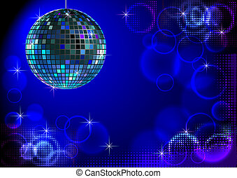 Discobackround_blue - Blue disco backround